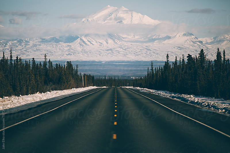 Road to Mountain by Jake Elko for Stocksy United