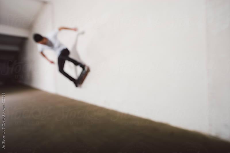 Skateboard Wallride by Urs Siedentop & Co for Stocksy United