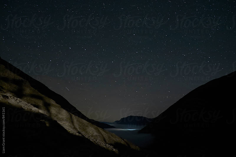 Stars above the Kirkstone Pass. Cumbria, UK. by Liam Grant for Stocksy United