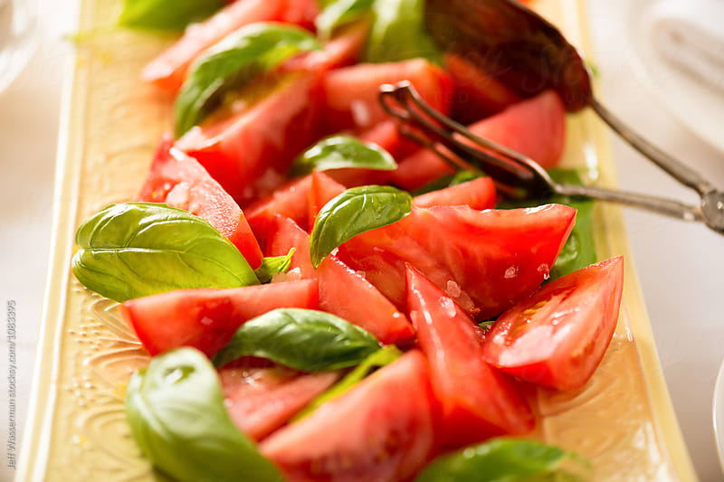 Tomato Salad with Basil  by Studio Six for Stocksy United