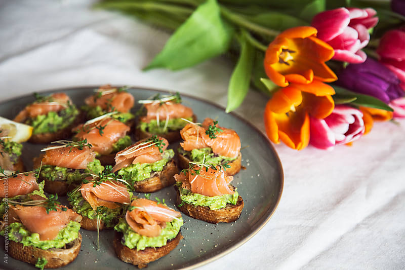 Tasty Valentine Surprise Menu by Alie Lengyelova for Stocksy United