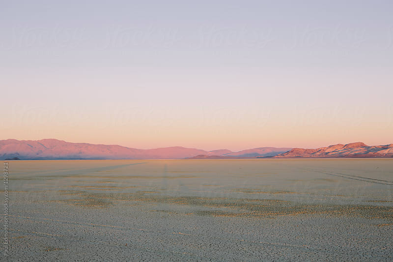 Black Rock Desert at dawn