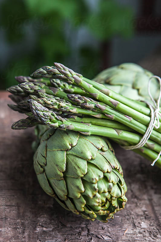 Fresh asparagus with artichokes by Zocky for Stocksy United