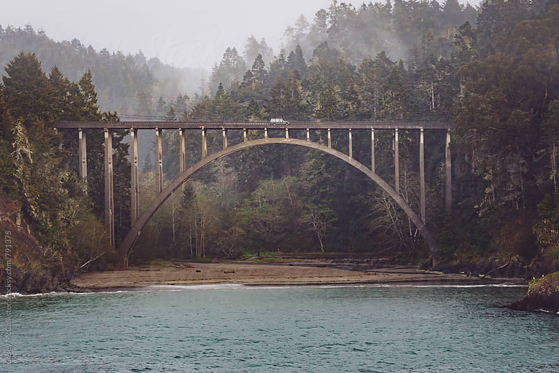 Foggy Nor Cal Bridge by Casey McCallister for Stocksy United