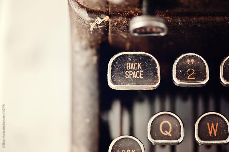 vintage typewriter keys by Gillian Vann for Stocksy United