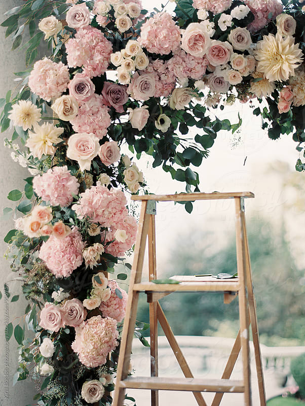 floral arch by Kirill Bordon photography for Stocksy United