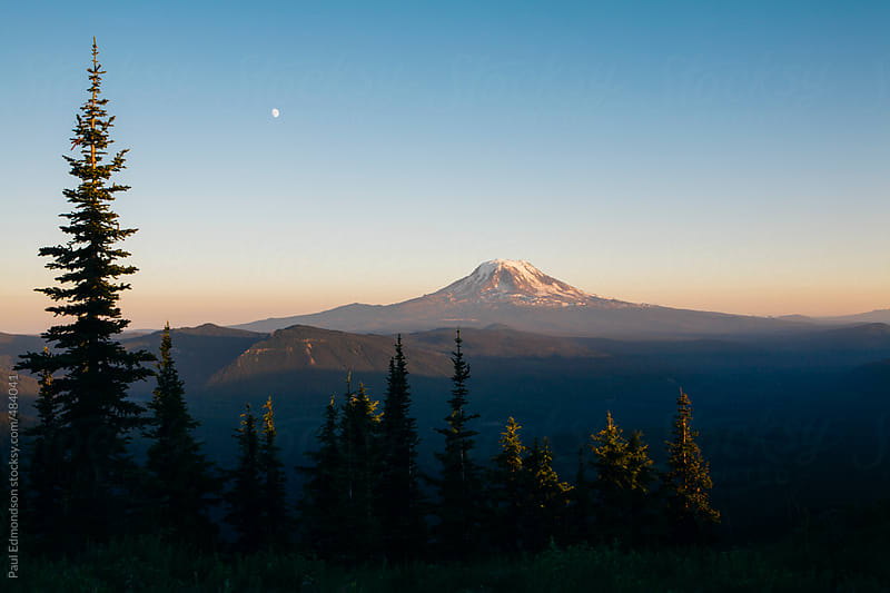 Mt. Adams at dusk by Paul Edmondson for Stocksy United