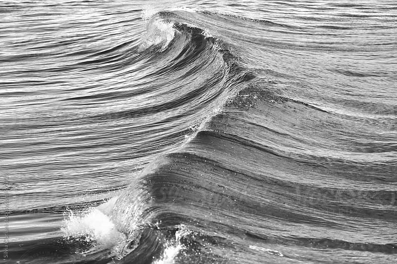 Waves in the Tyrrhenian sea by Silvia Cipriani for Stocksy United