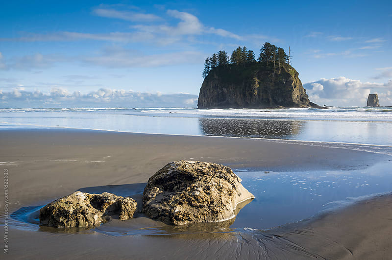 Outgoing tide at Second Beach by Mark Windom for Stocksy United