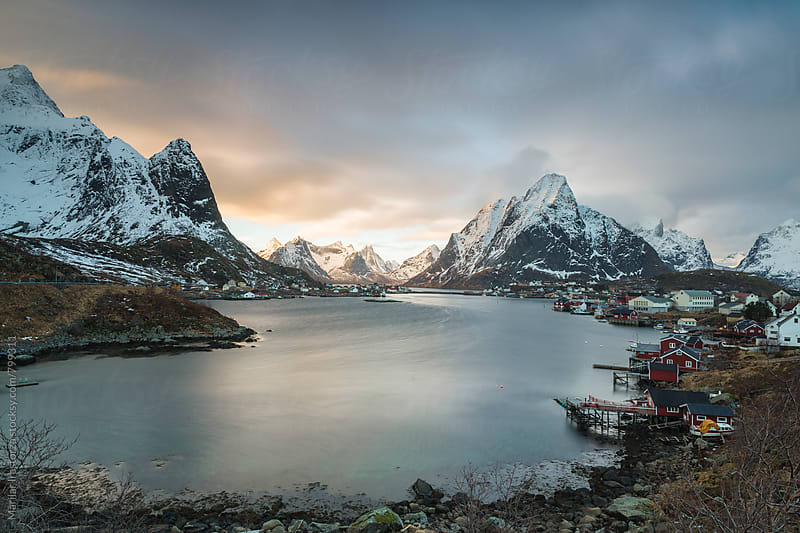The beautiful fishing village of Reine by Marilar Irastorza for Stocksy United