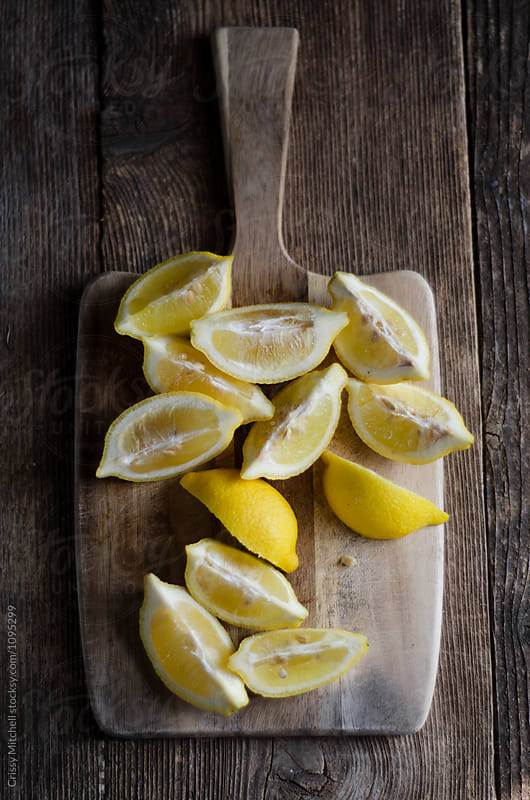 lemon wedges  by Crissy Mitchell for Stocksy United