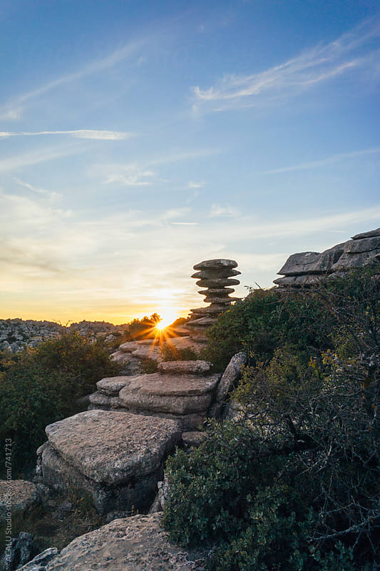 View of Torcal de Antequera, Malaga by ACALU Studio for Stocksy United