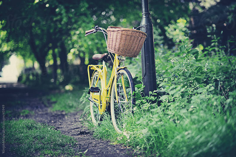 Bicycle and basket by Kirstin Mckee for Stocksy United
