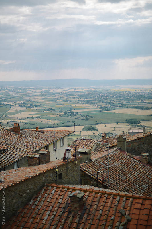 View across Tuscany by Kirstin Mckee for Stocksy United