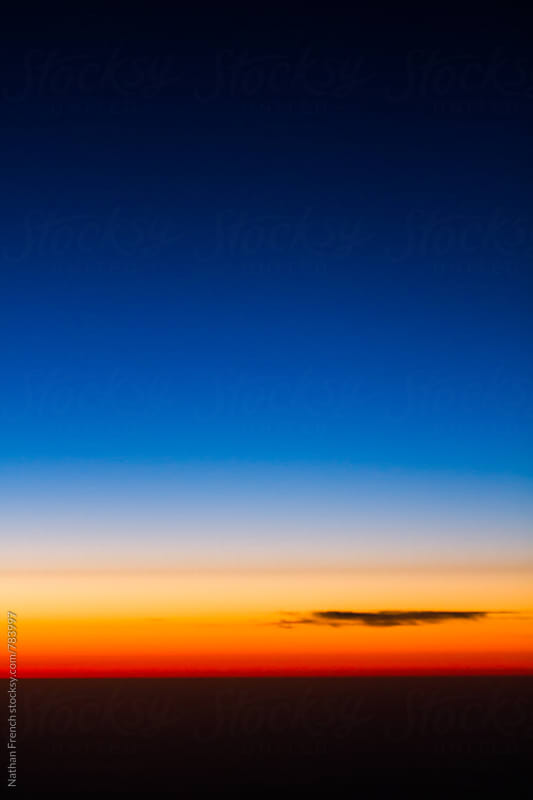 Sunset from the Sky by Nathan French for Stocksy United