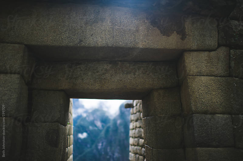 Stone Wall at Machu Picchu by Beth Johnston for Stocksy United
