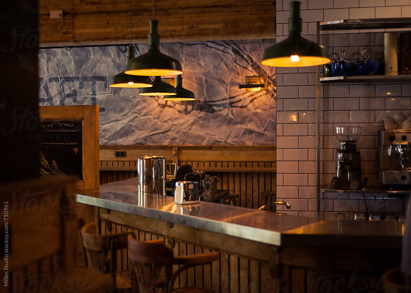Bar interior by Milles Studio for Stocksy United