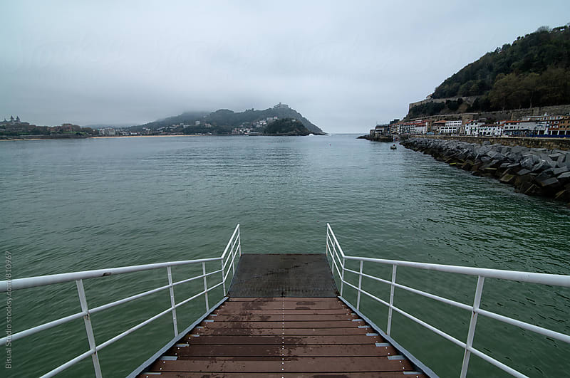 Platform on the bay of La Concha, San Sebastian by Bisual Studio for Stocksy United