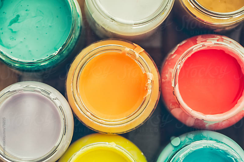Bottles of Paint by Lumina for Stocksy United