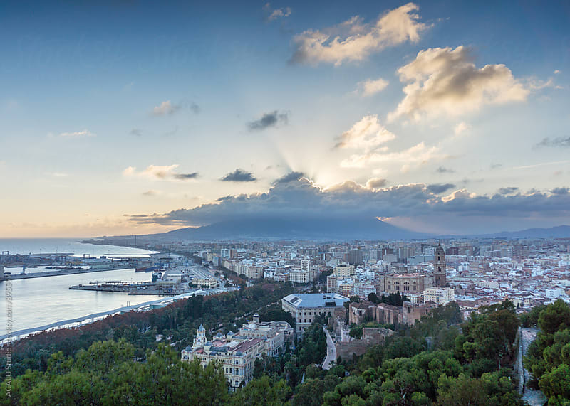 Malaga city from de air by ACALU Studio for Stocksy United
