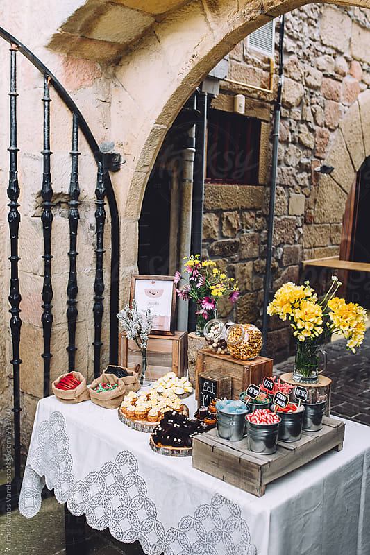 sweet dessert table by Thais Ramos Varela for Stocksy United