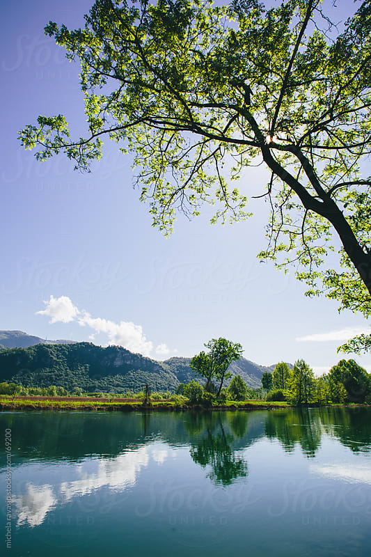 Landscape along the river by michela ravasio for Stocksy United