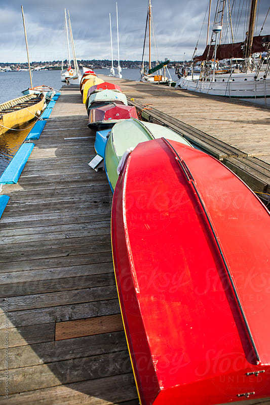 Boats on the dock by Suprijono Suharjoto for Stocksy United