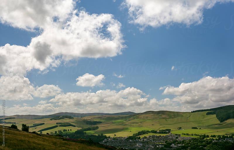 Patchwork fields Scotland. by Darren Muir for Stocksy United