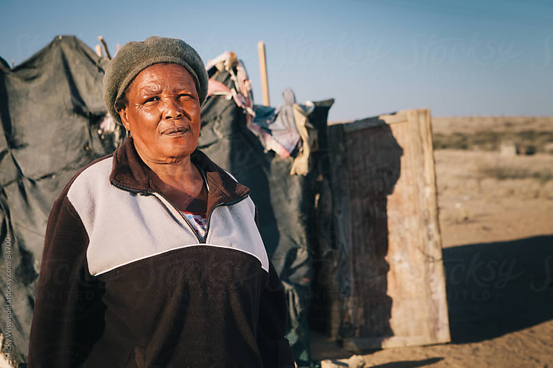 Portrait of a Damara woman in Namibia by Micky Wiswedel for Stocksy United