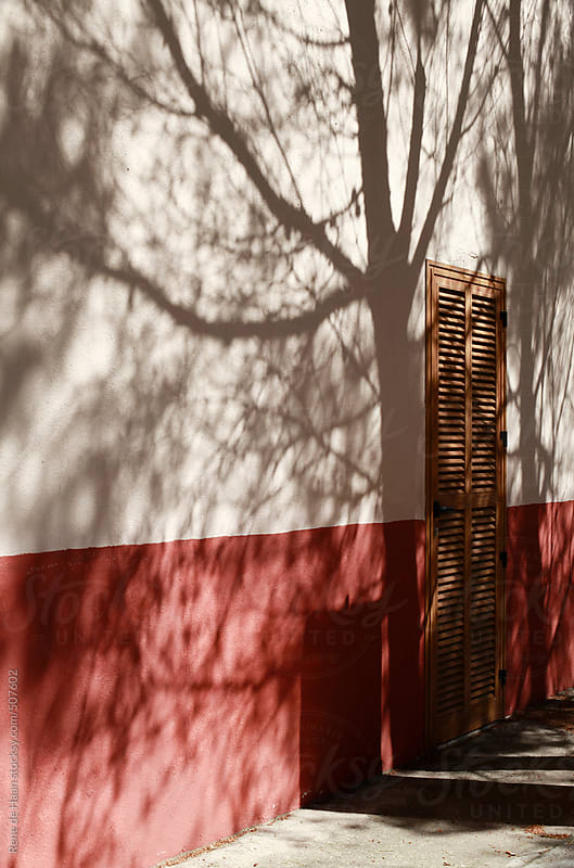shadows from tree on wall by Rene de Haan for Stocksy United