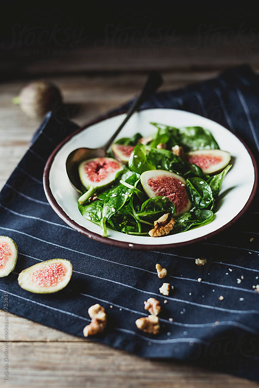 Vegan fig salad by Tatjana Zlatkovic for Stocksy United
