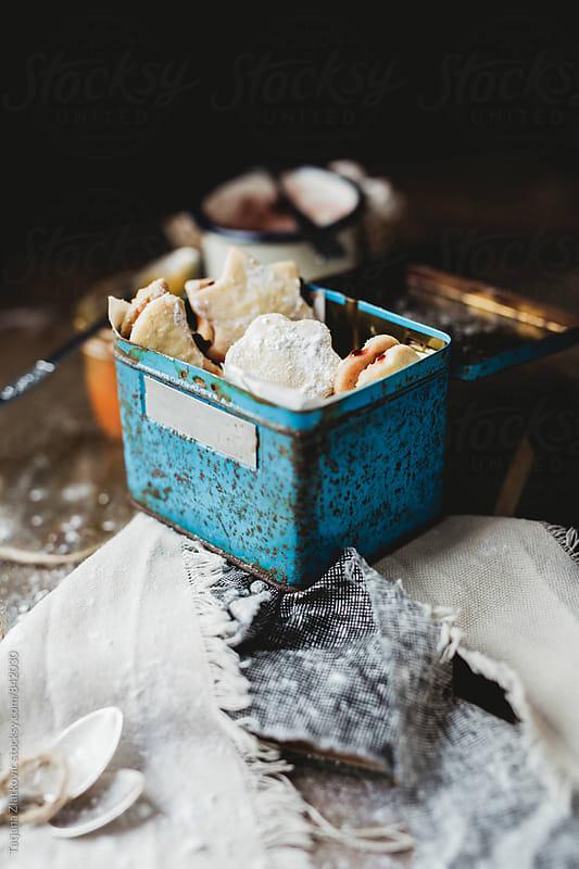 Homemade cookies with jam by Tatjana Zlatkovic for Stocksy United