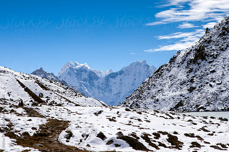 Himalayan mountains on the Everest Region. by Shikhar Bhattarai for Stocksy United