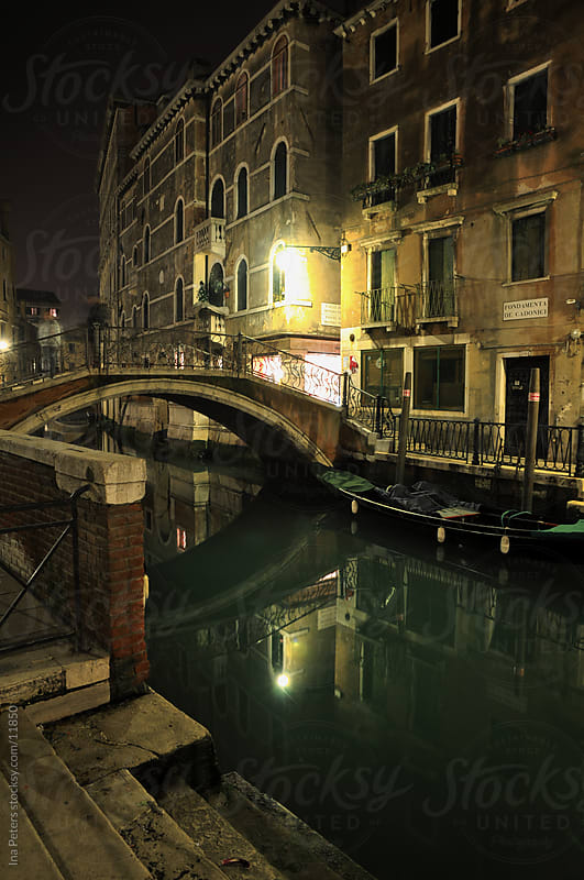 Venice at night by Ina Peters for Stocksy United