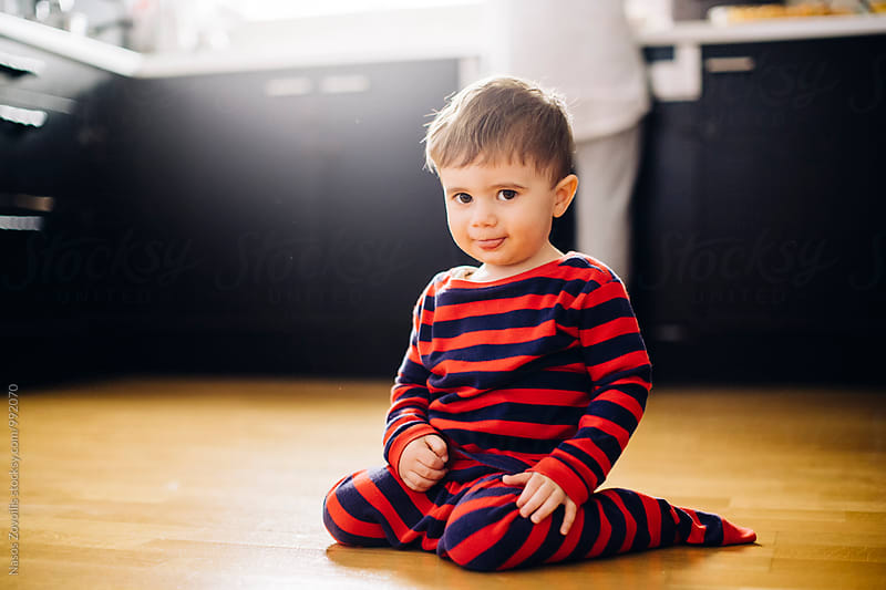 Portrait of a 1 year old boy by Nasos Zovoilis for Stocksy United