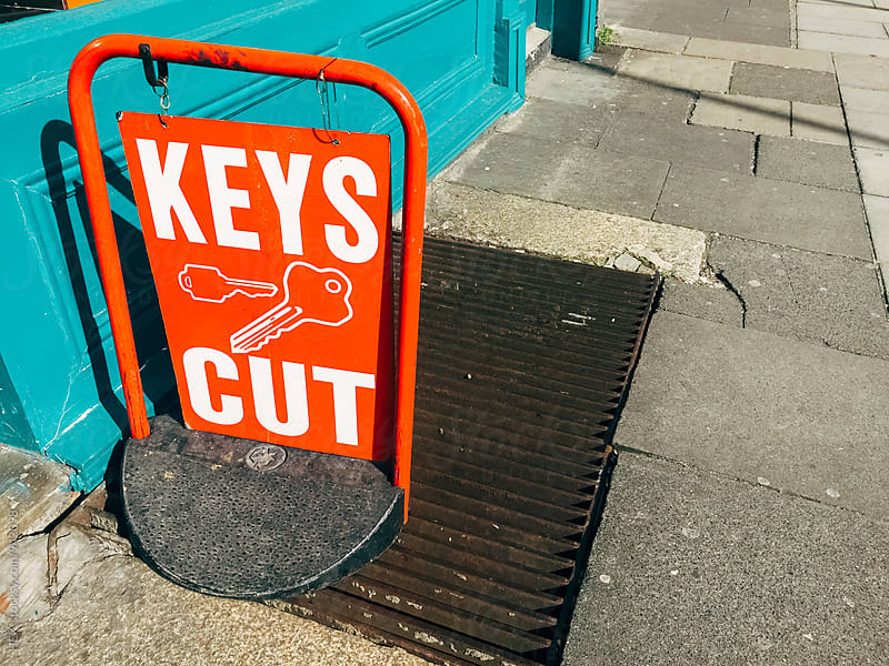 Key Cut Sign by Mattia Pelizzari for Stocksy United