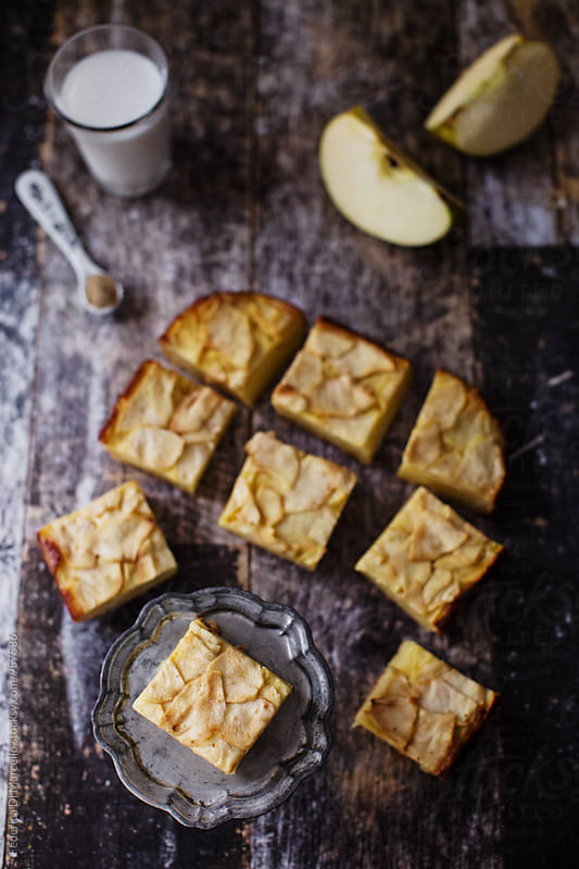 Invisible apple cake by Federica Di Marcello for Stocksy United