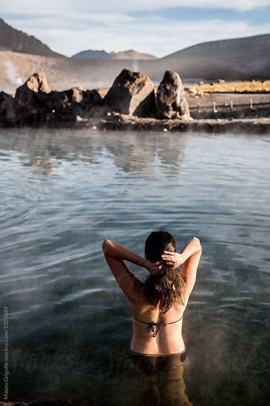 hot pools at El Tatio geysers, Atacama, Chile. by Mauro Grigollo for Stocksy United