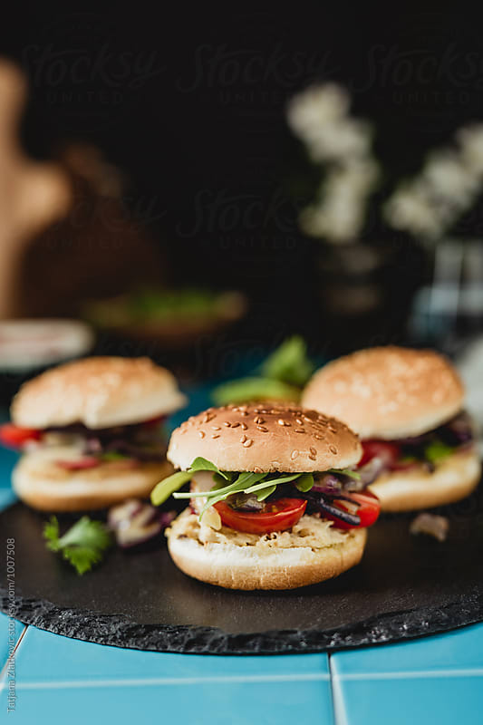 Homemade vegan sandwiches by Tatjana Ristanic for Stocksy United