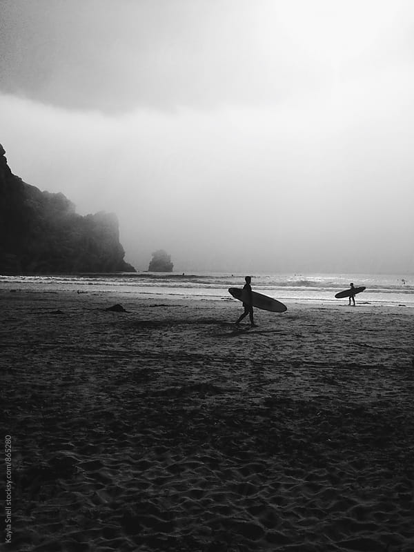 Surfers in Califonia by Kayla Snell for Stocksy United