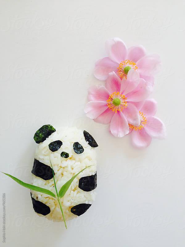 Panda Rice Cake by Sophia Hsin for Stocksy United