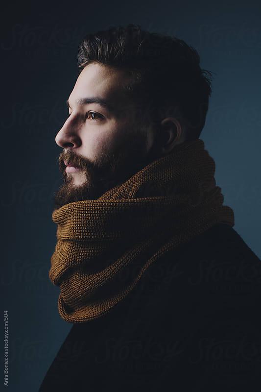 Portrait of a bearded man by Ania Boniecka for Stocksy United