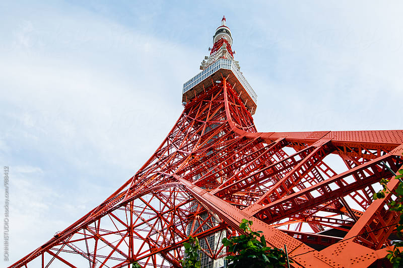 Tokyo tower in Japan. by BONNINSTUDIO for Stocksy United