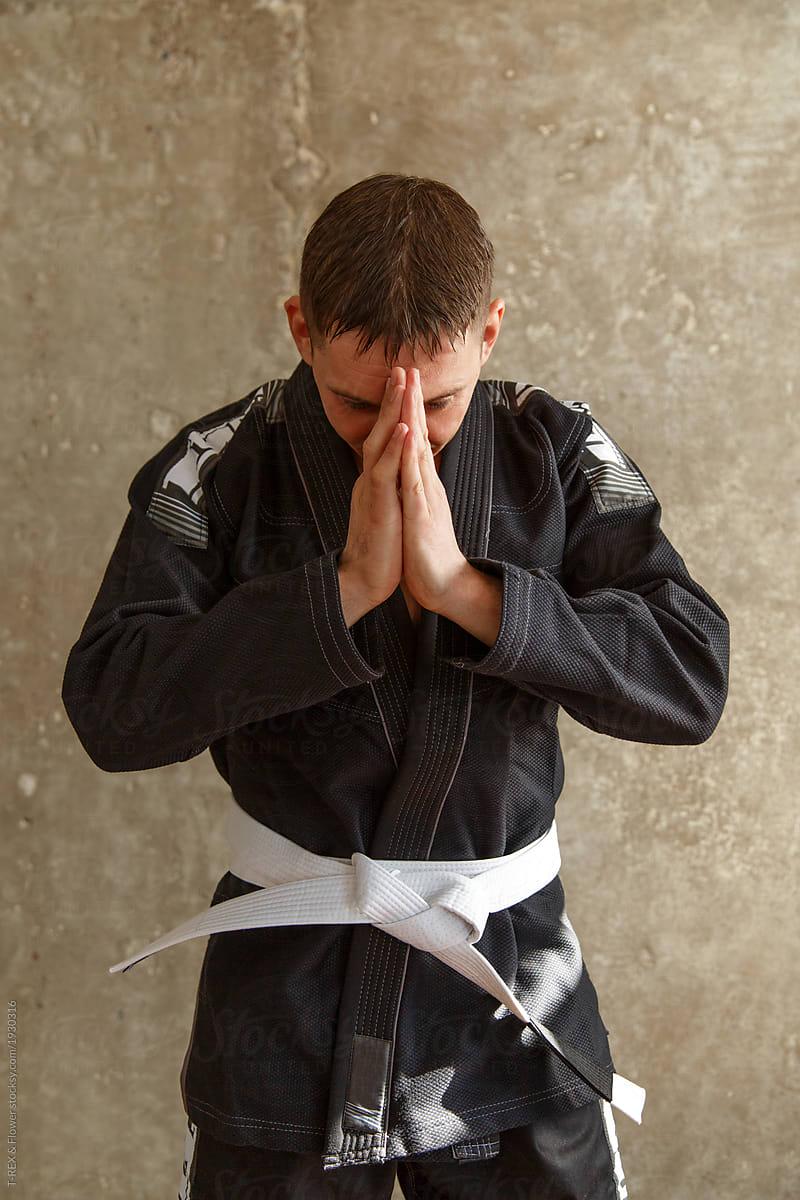 Man in karate suit greeting stocksy united man in karate suit greeting by t rex flower for stocksy united m4hsunfo