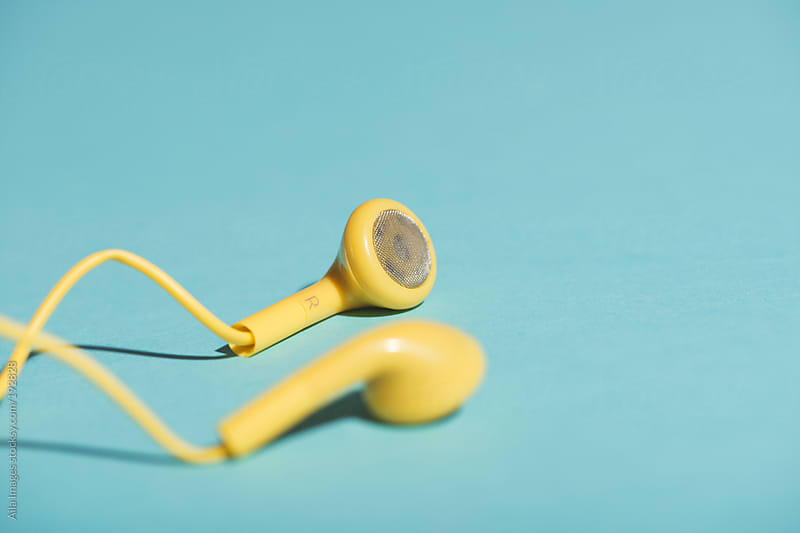 Yellow Headphones by Aila Images for Stocksy United
