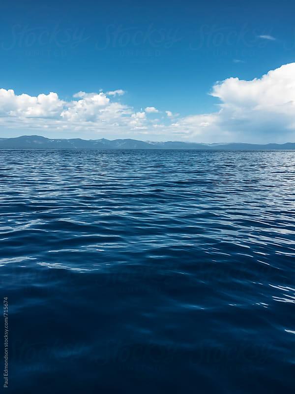 Blue waters of Lake Tahoe by Paul Edmondson for Stocksy United