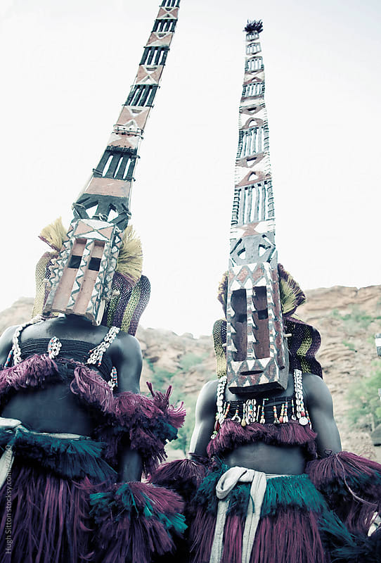 Dogon Dancers. Mali by Hugh Sitton for Stocksy United