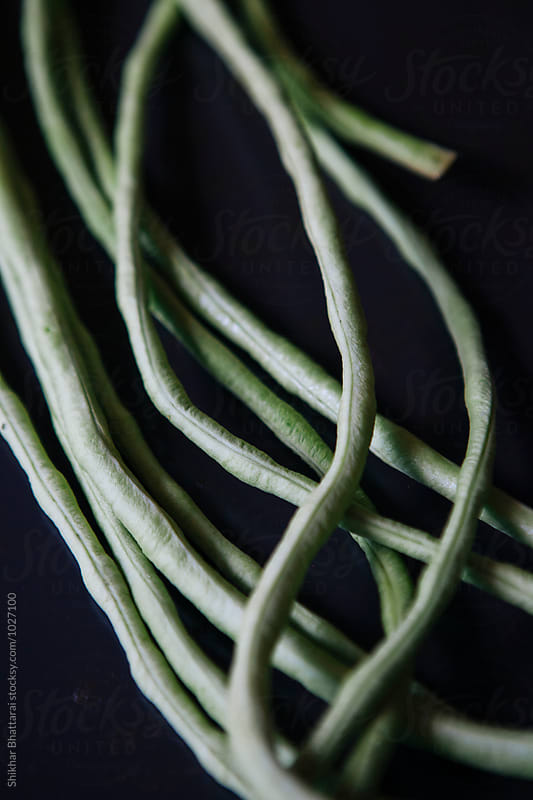 Long green beans. by Shikhar Bhattarai for Stocksy United