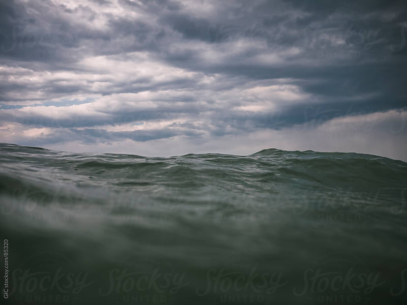 Rough waves in the ocean by GIC for Stocksy United
