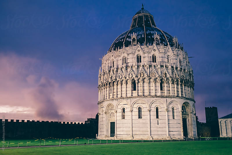 The Baptistery . Campo dei Miracoli, Pisa, Italy. by HEX. for Stocksy United